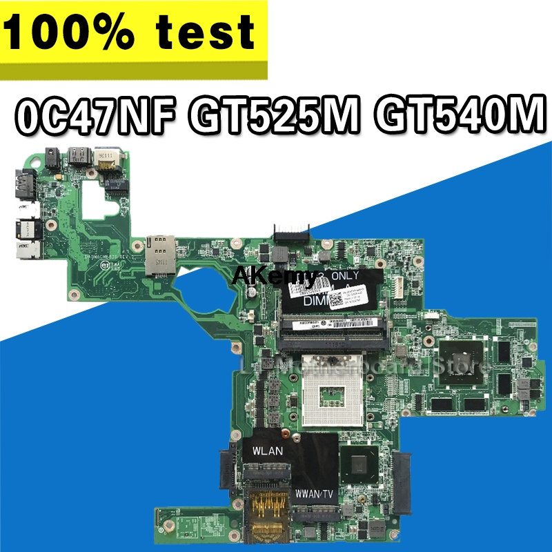 C47NF 0C47NF CN-0C47NF Mainboard For Dell XPS L502X Laptop Motherboard GT525M GT540M DAGM6CMB8D0 Test Work 100% Original