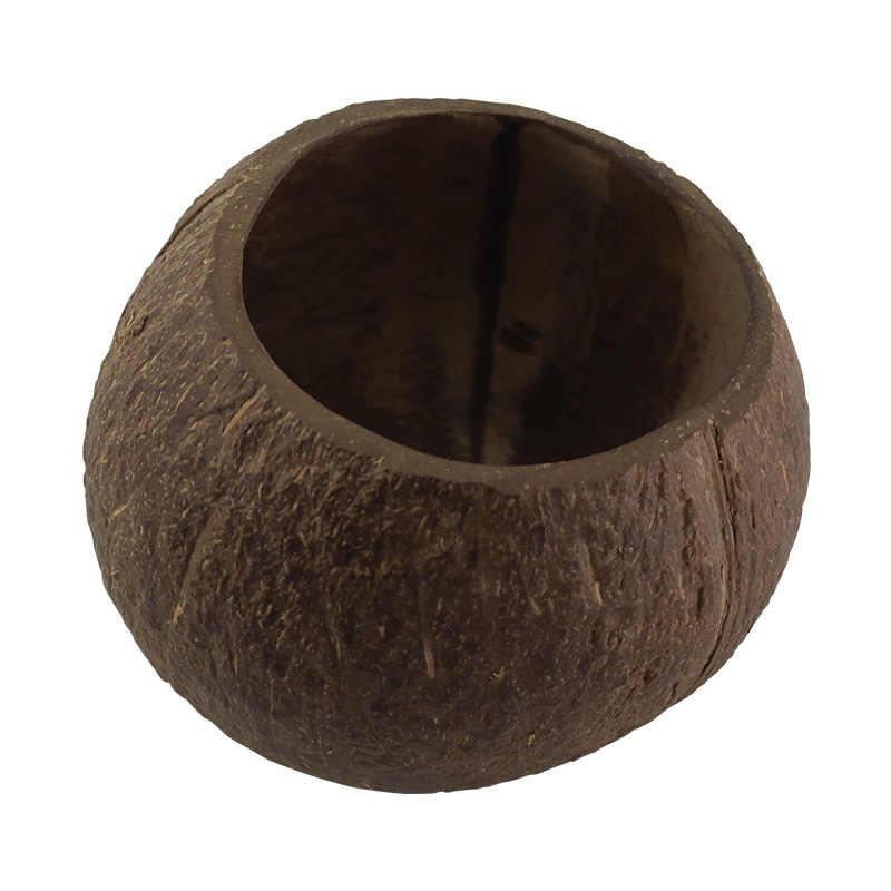 진짜 코코넛 껍질로 만든 재사용 가능한 코코넛 그릇