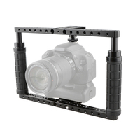 Kayulin Adjustable Dslr Camera Cage with QR Hot Shoe Adapter (Battery Grip) for Universal Dslr Camera
