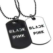 Vintage kpop star blackpink Pendant necklace Personalized metal Men's Military Necklace simple Sweater chain jewelry for women(China)