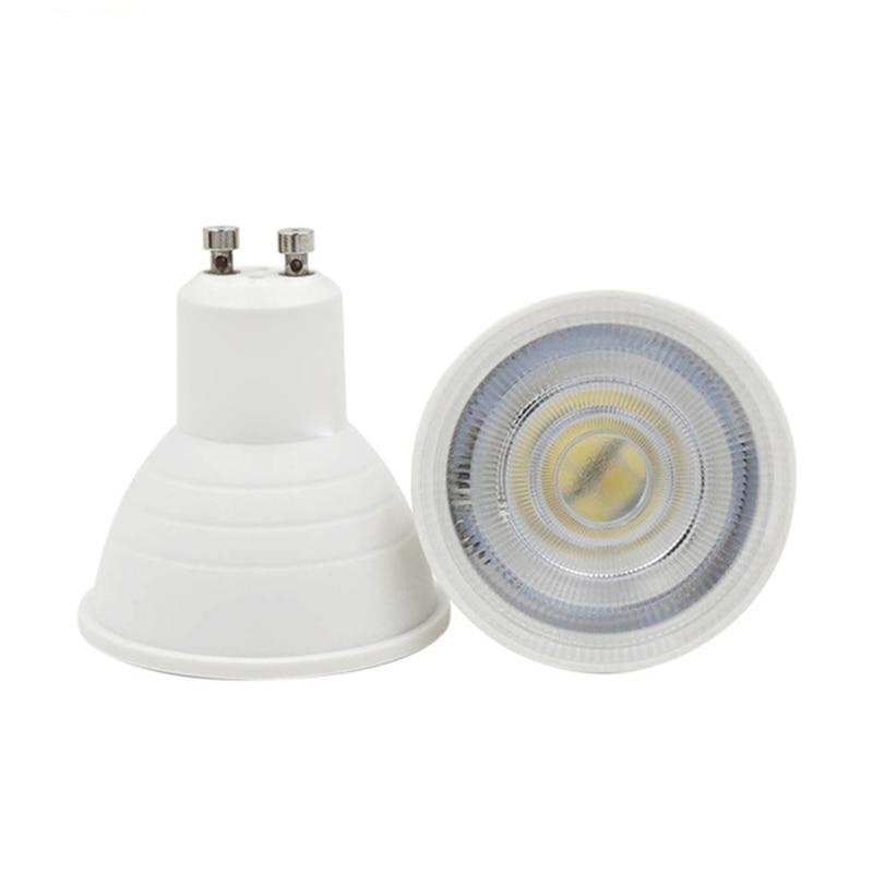 Точечный Светодиодный светильник GU10, 6 Вт, 220 В, 230 В, 240 в, cob, холодный белый, 6500 К, естественный белый, 4000 к, теплый белый, 3000 К, Диммируемый точеч...