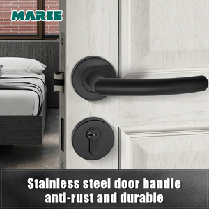 Image 1 - LH1007 Black Color Stainless Steel Half Dummy Door Knob For Interior Door Lever Brushed Nickel Door Handle