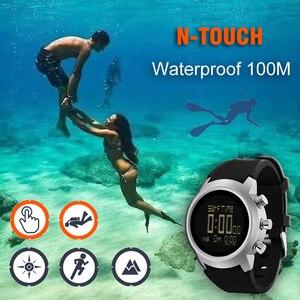 Image 3 - 2019 yeni erkek izle su geçirmez 100m akıllı dijital askeri İzle 50M dalış yüzme spor izle altimetre barometre pusula saat
