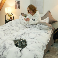 Classic bedding set 5 size bed linen 3/4pcs/set AB side duvet cover Bed Sheet Pillowcase