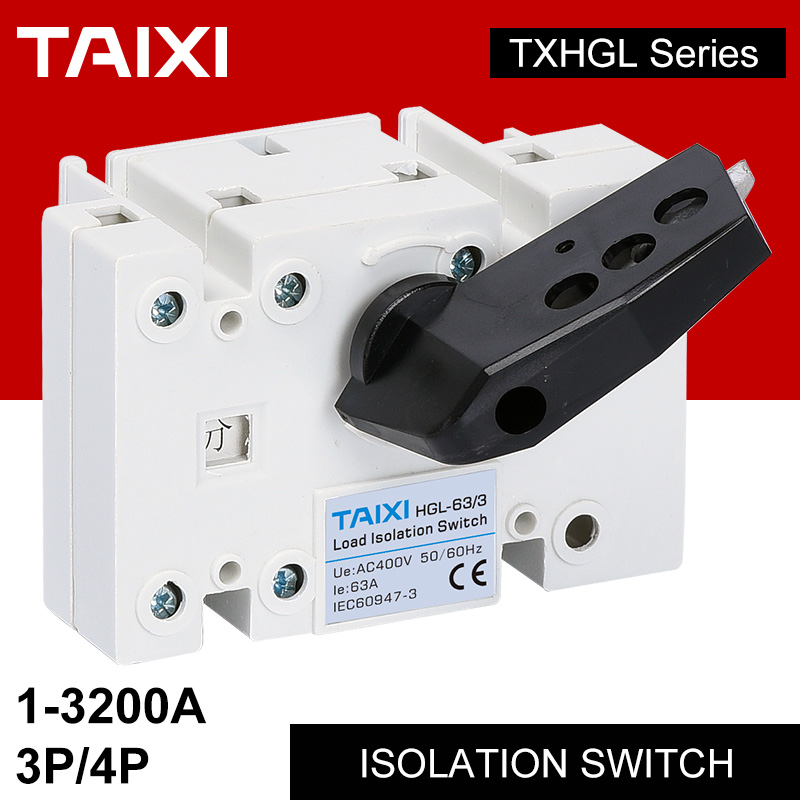 Interrupteur d'alimentation d'isolement, avec séparateur de verrouillage, connecteur 110/230/400V, 63a, 100a, 800a, 1000a, isolateur de batterie
