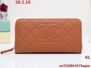 Luxury Designer Brand Chanel- Wallet women Purses Black Bifold Wallet Zipper Coin Purse C253