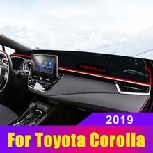 For Toyota Corolla 2019 LHD Car Dashboard Covers Dash Mat Sun Shade Pad Instrument Panel Carpets Trim Anti-UV Summer Accessories недорого