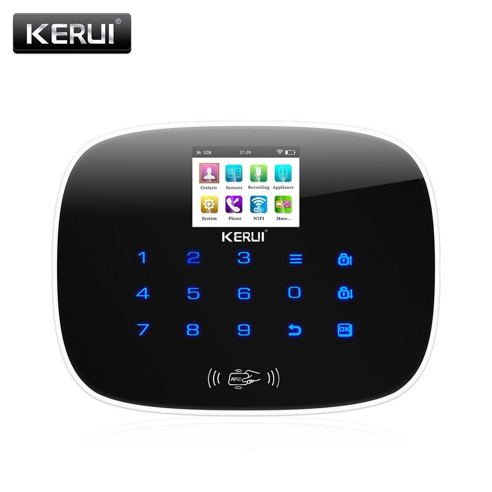 KERUI New W193 Wireless 3G WIFI PSTN GSM Smart Home Burglar Security Alarm System Sets APP Remote Control Touch Screen Alarm