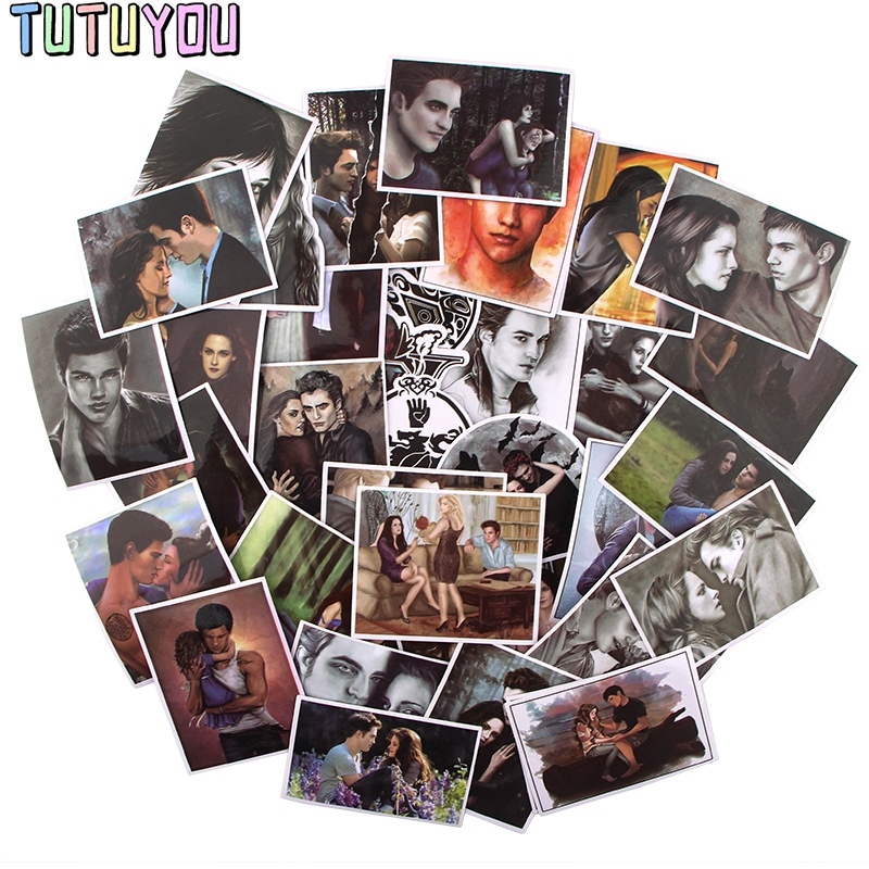 PC533 35pcs/set Movie The Twilight Saga Scrapbooking Stickers Decal For Guitar Laptop Luggage Car Fridge Graffiti Sticker