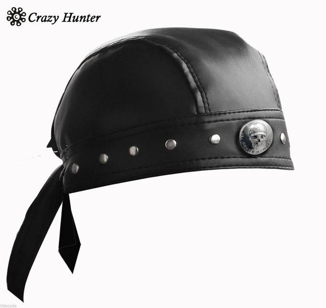 Leather Bandana Biker Doo Do Rag Headwrap Motorcycle Mens Skull Cap Capsmith Du Rag
