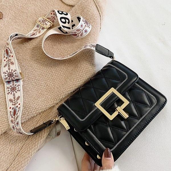 Vintage Rivets Soft Leather Chain Women's Shoulder Crossbody Bags Fashion Ladies Messenger Bag Evening Clutch Female Purses