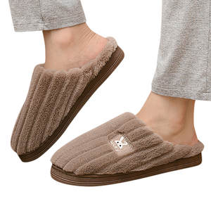 Shoes Toe-Slippers Couples Sapato Bedroom Rabbit Winter Women's Mens Home Warm Floor