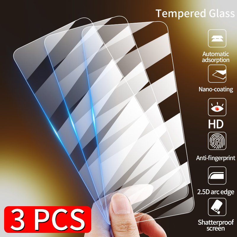 3Pcs Full Cover Tempered Glass For iPhone 12 MINI 11 Pro X XS Max XR Screen Protector Glass For iPhone 7 8 6s 6 Plus 5S SE 2020