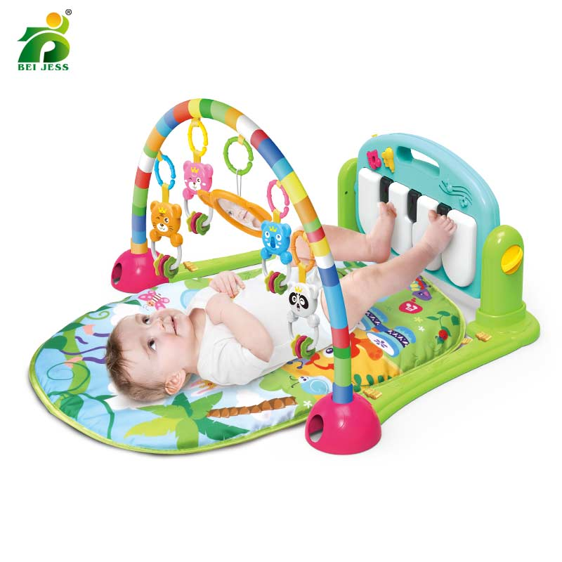 Dropship Baby Gym Children Activity Carpet Cradle Musical Piano Play Mat Gift Educational House Rack Puzzle Mat Toys For Kid