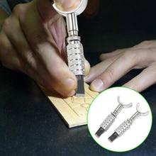 diy leather wood carving pen knife graver craft cutting tool w 12pcs blades Leather Craft Tools Adjustable Swivel Craft Graver DIY Handmade Leather Tools Rotating Carving Knife with Blade