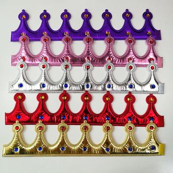 Regulowane dzieci dorosłych złota korona król królowa księżniczka rekwizyty Cosplay kapelusze na przyjęcie urodzinowe świąteczne wesele Halloween przebranie tanie i dobre opinie Ślub i Zaręczyny Chrzest chrzciny St Świętego patryka Wielkie Wydarzenie Emeryturę Płeć Reveal Birthday party Dom ruchome