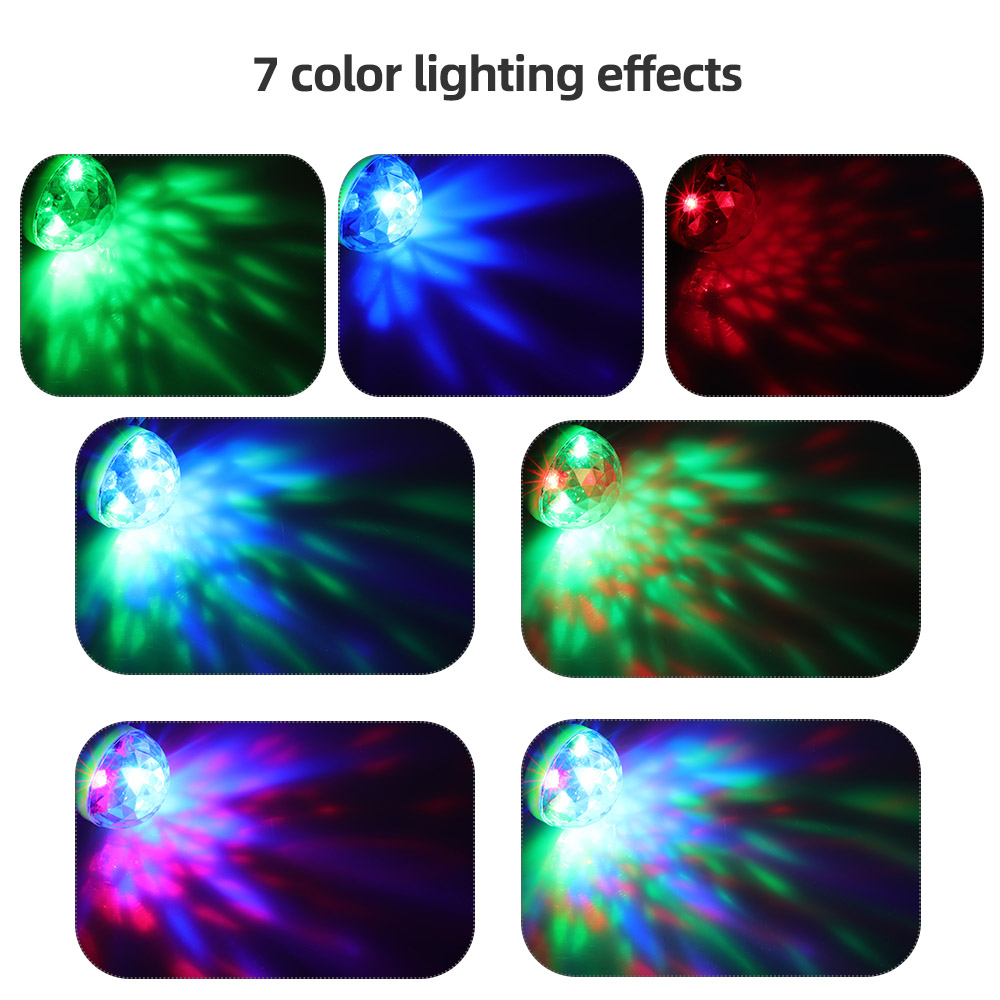 Image 4 - Aimkeeg RGB Mini USB LED Party Lights Portable Sound Control Magic Ball 3W Mini Colorful DJ Magic Disco Stage Lights for Mobile-in Stage Lighting Effect from Lights & Lighting on