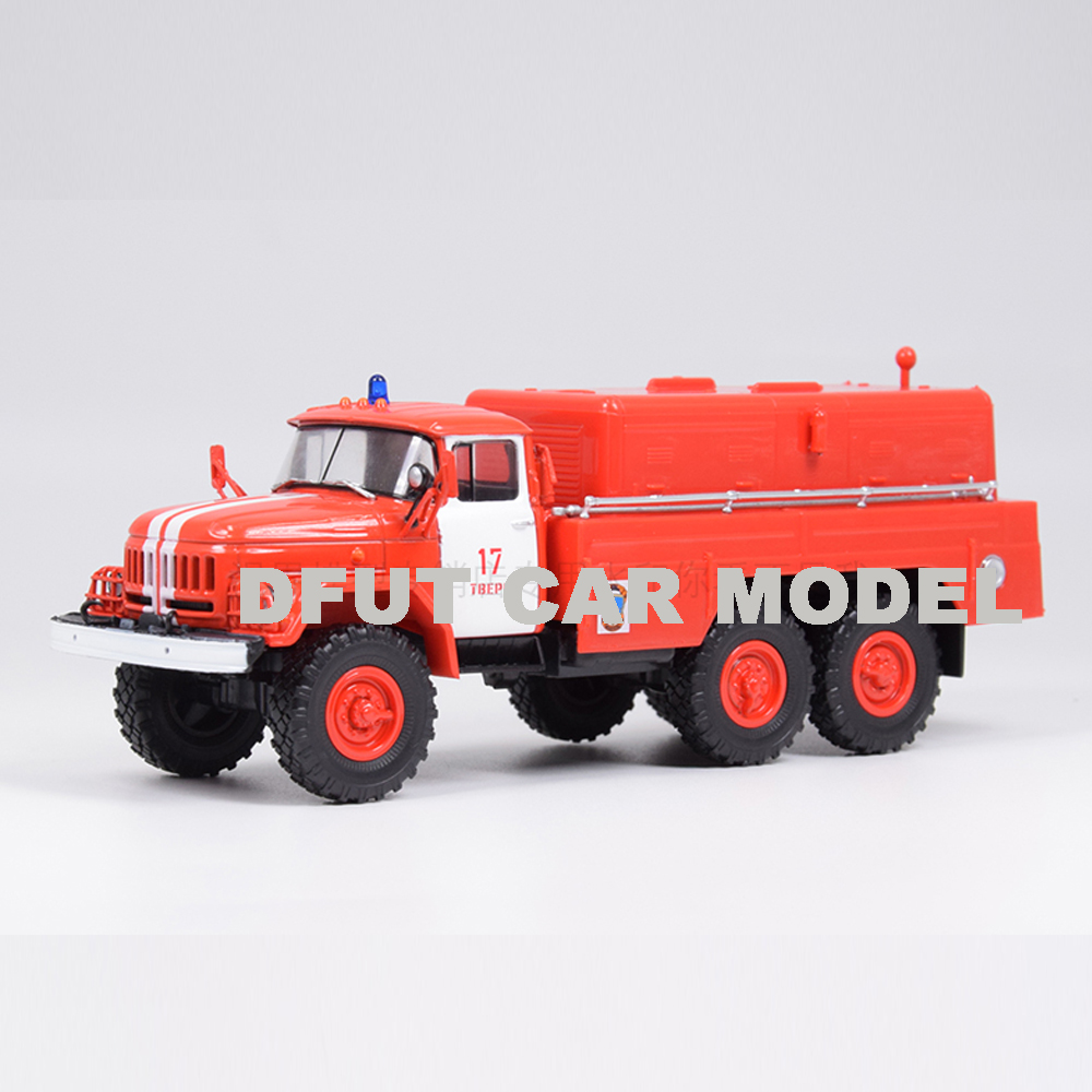 1:43 Alloy Toy Russia  ZIL 131 Fire Engine Car Model Of Children's Toy Cars Original Authorized Authentic Kids Toys1:43 Alloy To