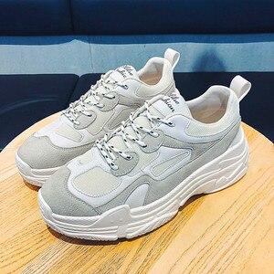 Image 2 - Mode Schoenen Voor Man Ademend Lace Up Air Mesh Sneakers Schoenen Zapatos Hombre Hot Verkoop Mannen Casual Schoenen running Sport