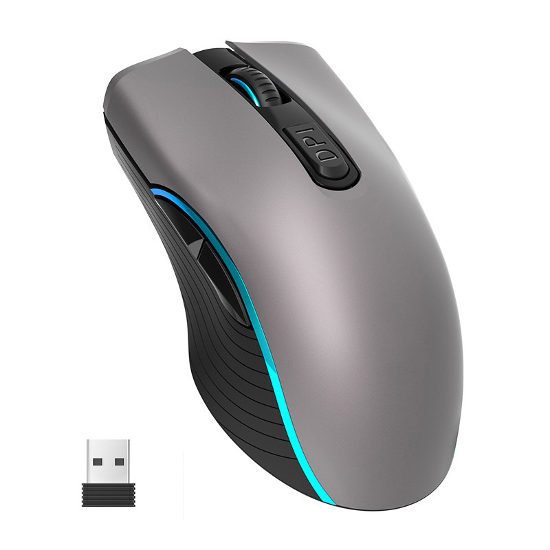 2.4G Wireless Mouse Rechargeable 2400DPI Professional Gaming Mouse For Macbook Lenovo 7 LED light Mice Computer Game Mouse(China)