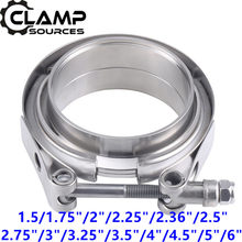 "Stainless Steel Auto V-band Exhaust Male Female Flange 76mm Vband Clamps Quick Release V band Clamp 1.5 2"" 2.5"" 3"" 3.5"" 4"" Inch(China)"