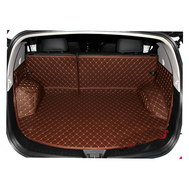 Lsrtw2017  For Kia Sportage Leather Car Trunk Mat Cargo Liner 2011 2012 2013 2014 2015 Sl Rear Rug Carpet Covers Accessories