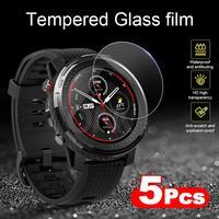 Protector de pantalla Huami Amazfit Stratos 3, cristal templado Premium para reloj inteligente Amazfit Stratos 3, 5 piezas, accesorios