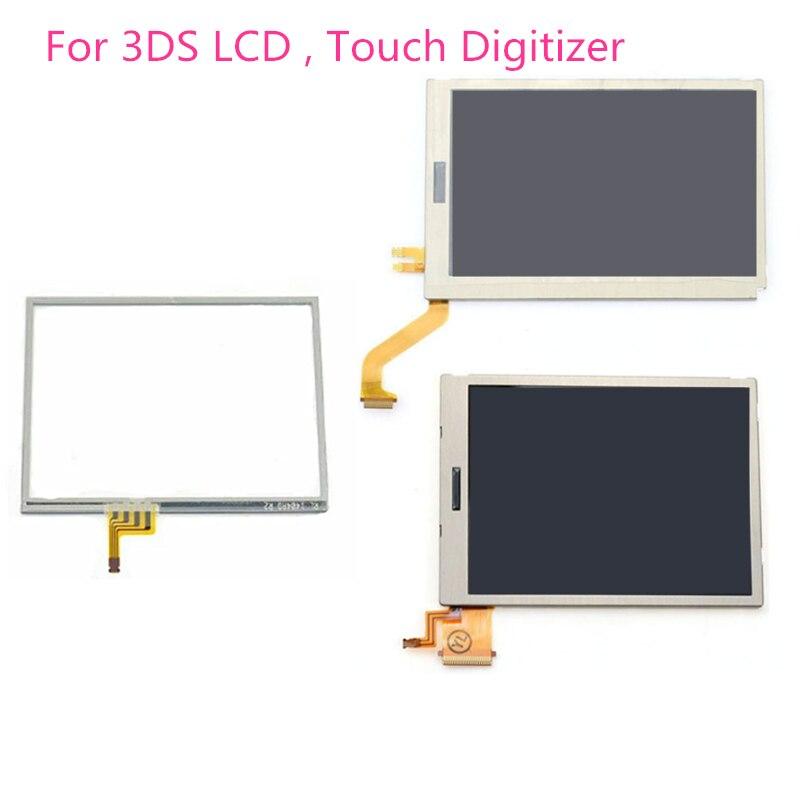 Запасные части верхний нижний и верхний нижний ЖК-экран для Nintendo 3DS LCD с сенсорным экраном дигитайзер стекло дисплей Сенсорная панель