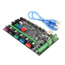 цены 4 Layers PCB Controller Board MKS Gen V1.4 Integrated Mainboard Compatible Ramps1.4/Mega2560 R3 with USB Cable
