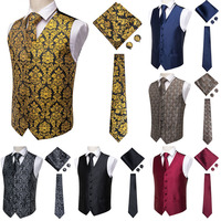 Men's Formal Suit Vest Business Vest Waistcoat 6 Button Regular Fit Men's V-Neck Sleeveless Slim Fit Jacket Casual Suit Vests