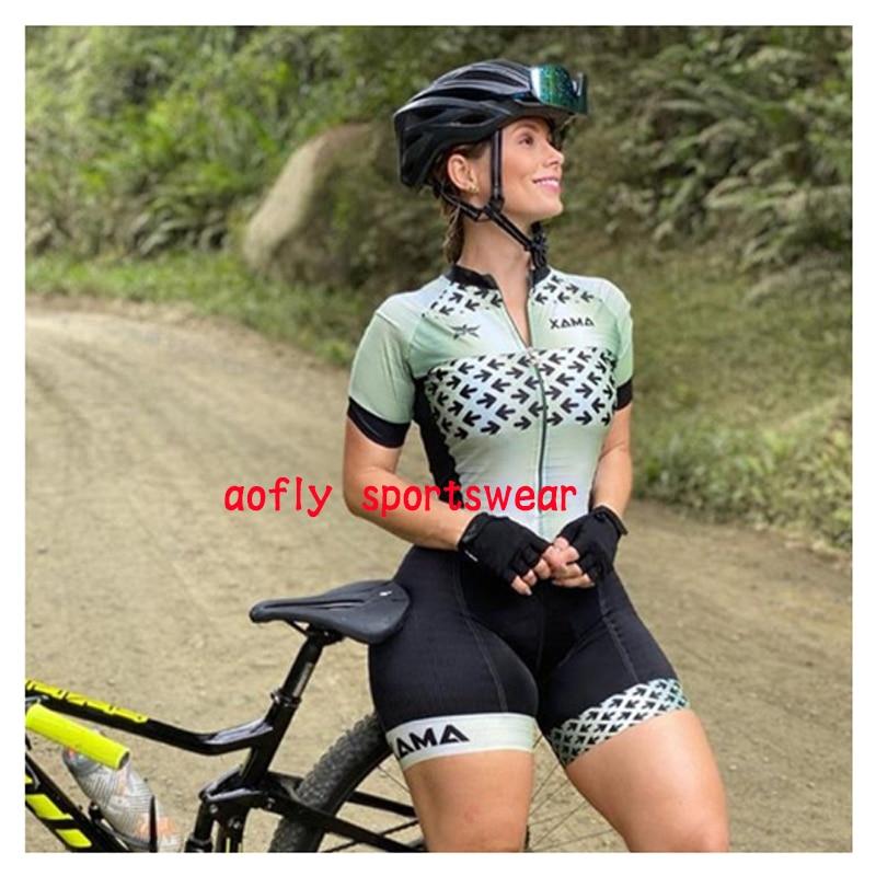 2020 xama pro feminino triathlon skinsuit bicicleta ciclismo conjuntos de jérsei macaquinho feminino roupas de bicicleta macacão gel almofada conjunto feminino ciclismo macaquinho ciclismo feminino  roupas com frete 15