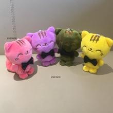 Очаровательные 10 см кошки плюшевые мягкие игрушки, кошка плюшевые игрушки куклы; подарок брелок плюшевые игрушки свадебный букет