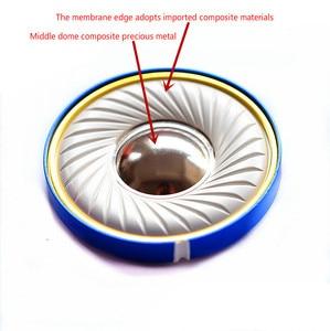 Ghxamp 50mm alta fidelidade 500 ohm fone de ouvido alto-falante unidade gama completa lcp composto berílio filme liga alumínio fone de ouvido unidade 1pc