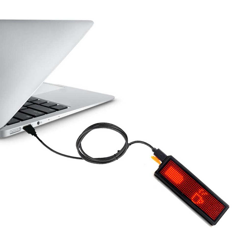 1Pc vélo feu arrière Programmable USB vélo bricolage feu arrière de sécurité voyant d'avertissement bricolage LED vtt vélo feu arrière vélo feu arrière