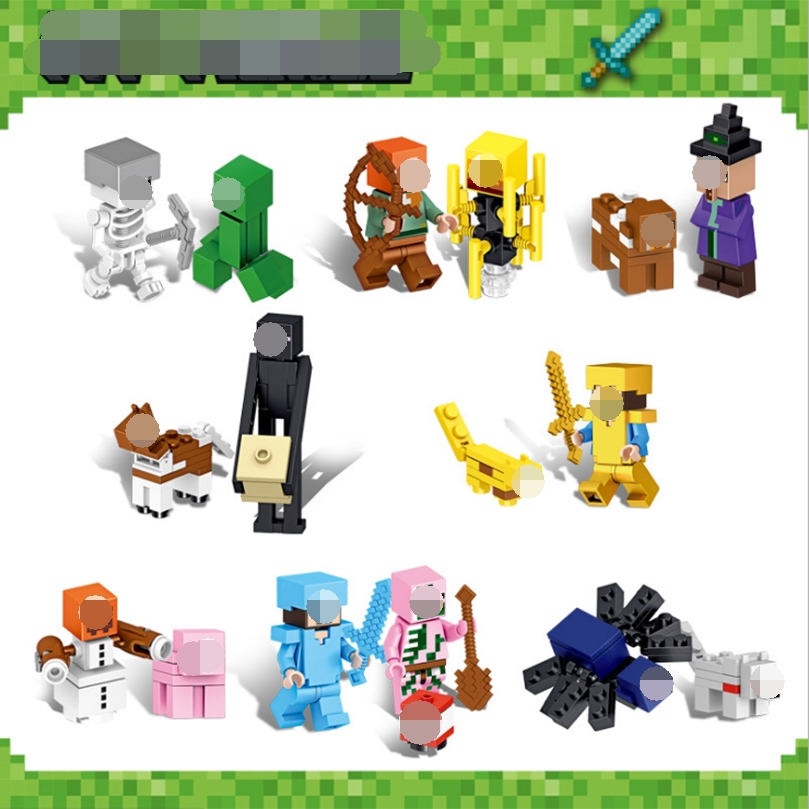 16 In 1 Children's Educational Building Blocks Toy My World Series Pixel Style