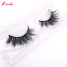 New 100% 3D real mink lashes wholesale natural long individual thick fluffy soft false eyelashes makeup dramatic eyelashes 3D02