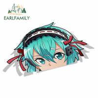 EARLFAMILY-pegatinas de coche para Asada Shino Sword Art, en línea, Peek, Anime, vinilo, JDM, estilismo para ventana, parachoques, etiqueta de personajes animados