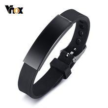 Vnox – Bracelets colorés en Silicone pour garçon et fille, bijoux de poignet de sport, taille ajustable