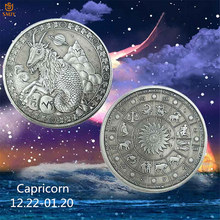 Souvenir de Constellation astrologique, jeton en Bronze Saturn capricorne, pièce de défi, valeur de Collection 2019