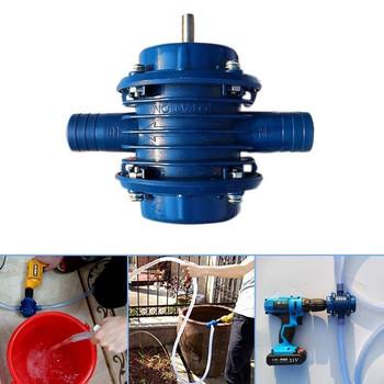 Niebieska samozasysająca pompa Dc samozasysająca pompa odśrodkowa gospodarstwa domowego mała pompująca ręczna wiertarka elektryczna pompa wodna tanie i dobre opinie CN (pochodzenie) Wysokie ciśnienie Standardowy Wody pumps plactis+metal blue Centrifugal Pump