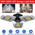 Деформируемый светодиодный светильник для гаража s 60 W-100 W Ультра-яркий потолочный свет лампы для гаражного склада E26/E27 AC 100-265V D20