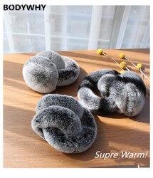 New Real Rabbit/Rex Fur Earmuffs Foldable Winter Plush Ear Muff Earwarmers Adult Kids Winter Earmuffs Earflap Earmuffs Winter