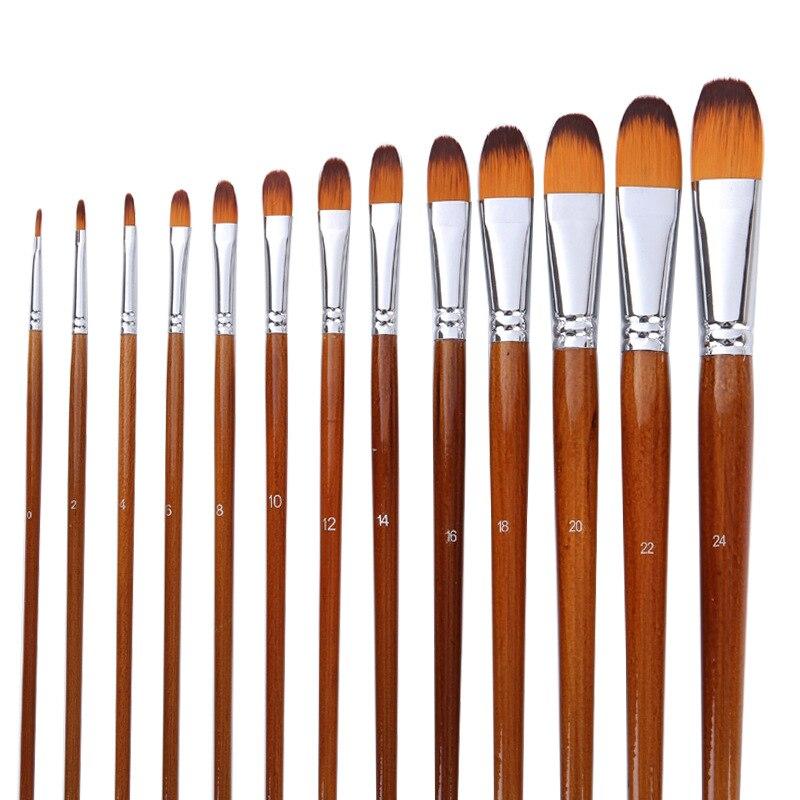 13 Nylon Brush Oil Brush Set / Painting Supplies / Art Supplies/ Art / Art Supplies For Painting