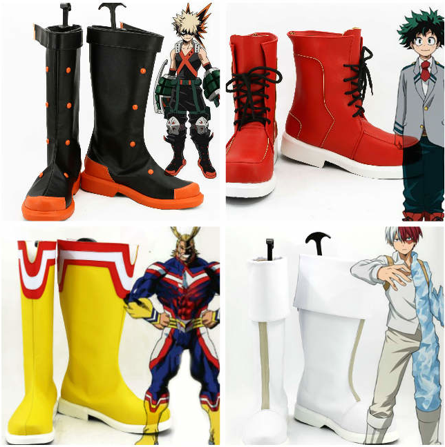 Boku No Hero Academia Izuku Midoriya Cosplay Shoes My Hero Academia Bakugou Boots Shoto Todoroki All Might Million Shoes