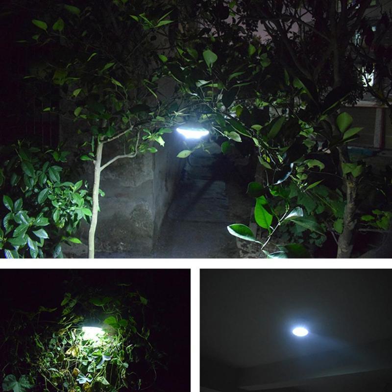 Hanging Tent Lamp Solar 22LED Outdoor Bulb Light Portable Camping Lantern Light Sensitive Rainproof And Lightning Protection