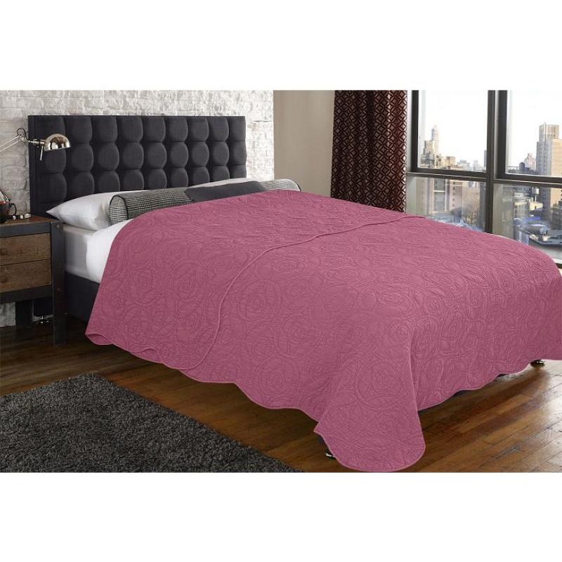 Bedspread euro Amore Mio, Bud, 220*240 cm, pink цена