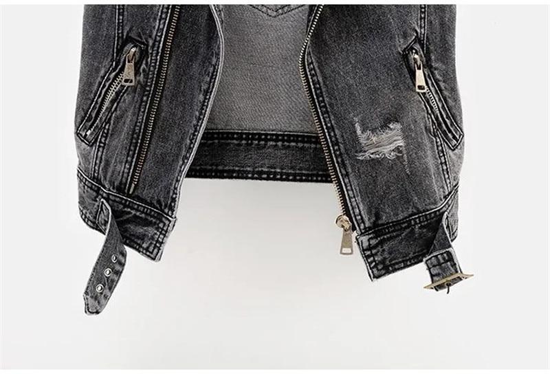 H5187a78db9234c30b83f7530dca2a6a4b Fashion Denim Vest Female Spring Autumn Sleeveless Wild Tops Short Jacket Women Plus Size 5XL Smoky Gray Jean Waistcoat