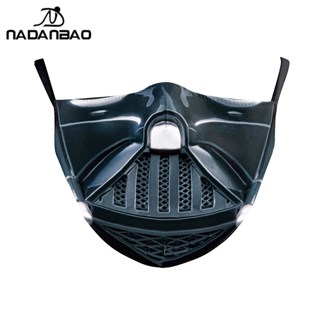 NADANBAO Adult Kid Star War Cosplay Print Face Mask Adult Kid Washable Masks Fabric Reusable PM2.5 Filters Dust Proof 2