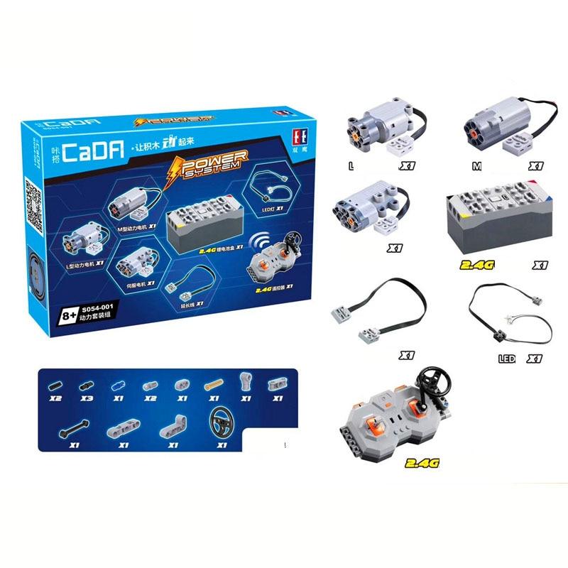 4 Channels Lithium Battery Power Function Bluetooth APP Control MOC Mechanical Battery Box Building Blocks Fit LOGO PF Parts Set