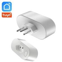 Brezilya standart akıllı soket tipi N WiFi soket 16A enerji İzleme ile güç tüketimi Tuya akıllı yaşam Alexa ile çalışmak